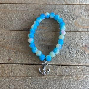 Handmade Multi Color Beaded Anchor Bracelet